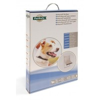Pet Door Aluminium 640 groot wit