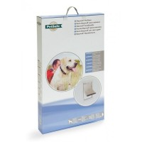 Pet Door Aluminium 660 extra groot wit